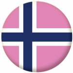 Norway Gay Pride Flag 25mm Keyring